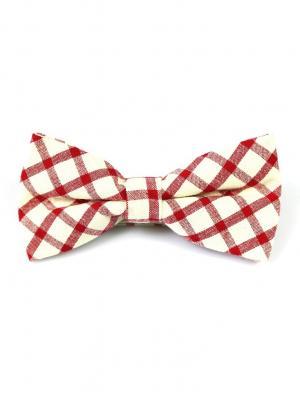 Галстук-бабочка Churchill accessories. Цвет: бордовый, белый, красный