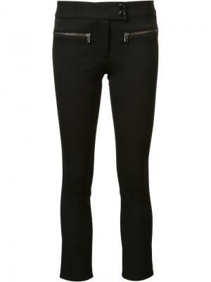 Укороченные брюки кроя слим Veronica Beard. Цвет: чёрный