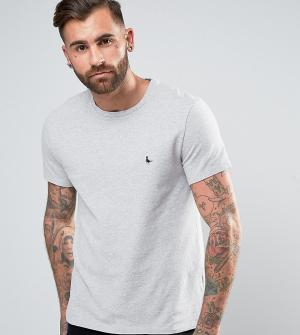 Jack Wills Серая футболка из пике Elvaston. Цвет: серый