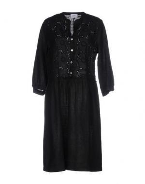 Платье до колена LA FABBRICA del LINO. Цвет: черный