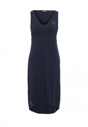 Платье EA7. Цвет: синий