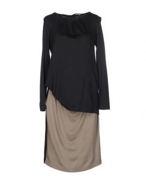 Платье до колена NINE. Цвет: серый