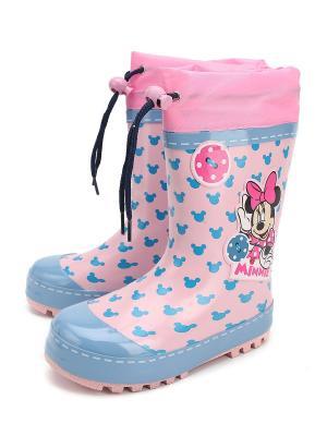 Резиновые сапоги Disney. Цвет: розовый