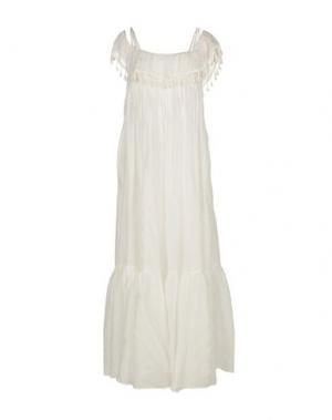 Длинное платье SUOLI. Цвет: белый