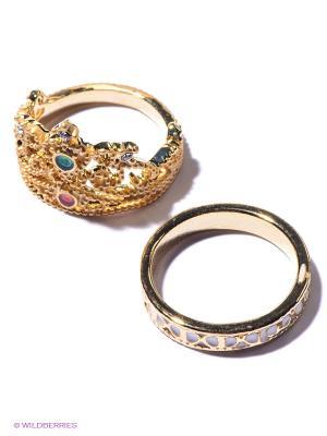 Кольцо, 2 шт. Lovely Jewelry. Цвет: золотистый