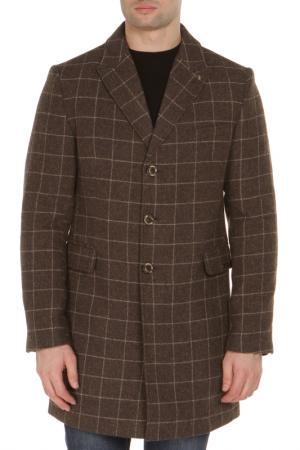 Пальто BAZIONI. Цвет: коричневый