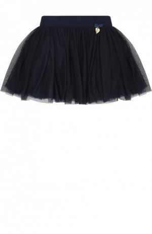 Пышная многоярусная юбка Angel's Face. Цвет: темно-синий