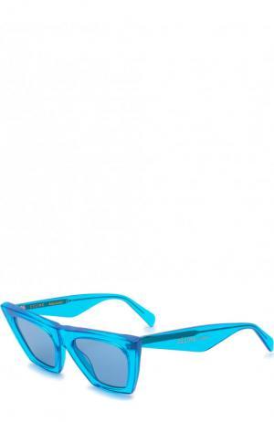 Солнцезащитные очки Céline Eyewear. Цвет: голубой