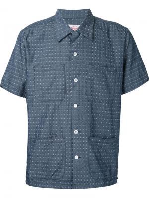 Рубашка с короткими рукавами Battenwear. Цвет: синий