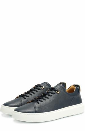 Кожаные кеды на шнуровке с декоративной отделкой Buscemi. Цвет: синий