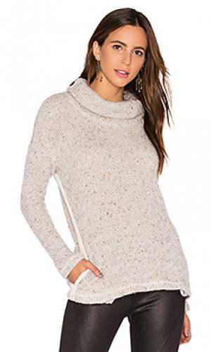 Двусторонний свободный вязанный пуловер Splendid. Цвет: серый