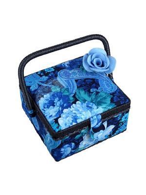 Шкатулка с декором Матренин Посад. Цвет: синий