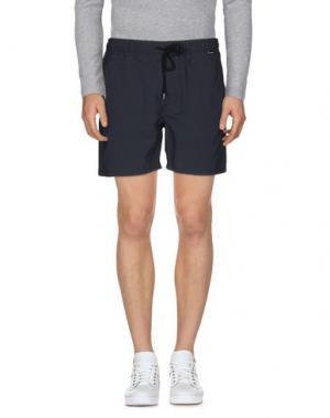 Повседневные шорты HURLEY. Цвет: темно-синий