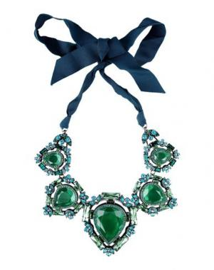 Ожерелье LANVIN. Цвет: изумрудно-зеленый