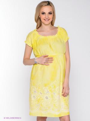 Платье UNIOSTAR. Цвет: желтый