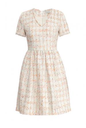Платье 157602 Laroom. Цвет: бежевый