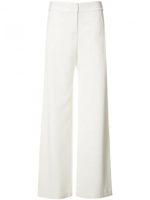 Расклешенные брюки Halston Heritage. Цвет: белый