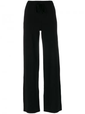 Широкие брюки на шнурке Sonia Rykiel. Цвет: чёрный