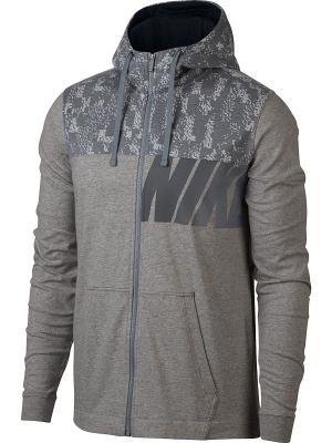 Толстовка M NSW HOODIE JSY CLUB GFX Nike. Цвет: темно-серый, серый