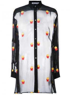 Прозрачная рубашка Mikio Sakabe. Цвет: чёрный