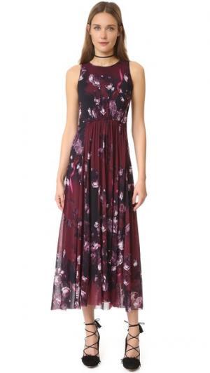 Платье без рукавов Fuzzi. Цвет: мульти