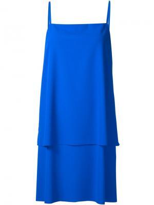 Многослойное платье с тонкими лямками Grey Jason Wu. Цвет: синий