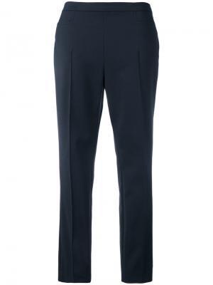 Укороченные прямые брюки Akris Punto. Цвет: синий
