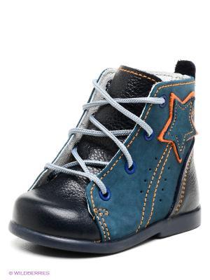 Ботинки Детский скороход. Цвет: темно-синий