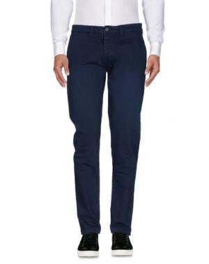 Повседневные брюки QU4TTRO. Цвет: темно-синий