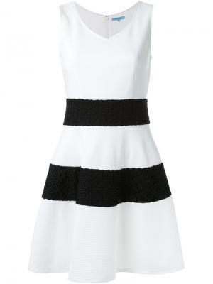 Платье А-образного кроя с широкими полосками Guild Prime. Цвет: белый