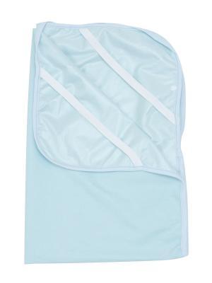 Пеленка LITTLE WORLD OF ALENA. Цвет: голубой