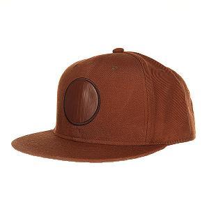 Бейсболка с прямым козырьком  04 Brown Skills. Цвет: коричневый
