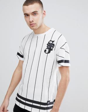 Sixth June Белая футболка в полоску. Цвет: белый