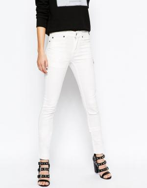 Cheap Monday Узкие джинсы. Цвет: белый