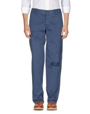 Повседневные брюки ROŸ ROGER'S RUGGED. Цвет: темно-синий