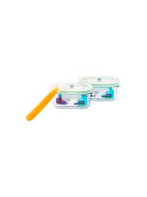 Контейнеры Glasslock GL-268 2шт*150мл+силик.ложка. Цвет: прозрачный