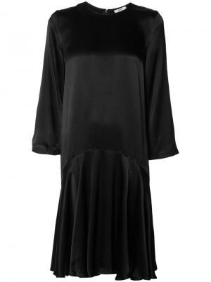 Расклешенное платье Ganni. Цвет: чёрный