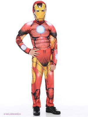 Карнавальный костюм Железный человек. Мстители.  Дисней Батик. Цвет: красный
