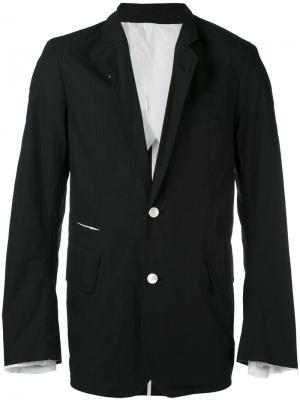 Пиджак с узкими лацканами Wardrobe Takahiromiyashita The Soloist. Цвет: чёрный