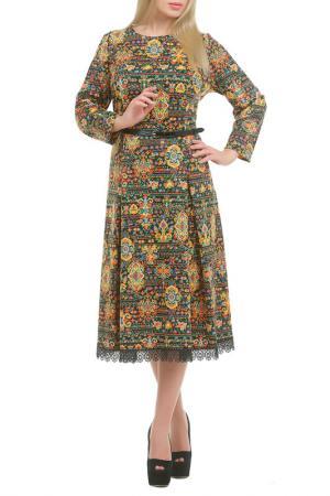 Платье Нивес LESYA. Цвет: коричневый