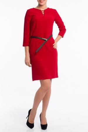 Платье MoNaMod. Цвет: красный
