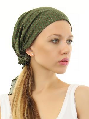Косынка Nina Ford. Цвет: зеленый, коричневый