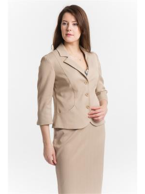 Пиджак ESSA. Цвет: темно-бежевый
