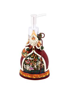 Дозатор для жидкого мыла Санта Клаус Blonder Home. Цвет: белый