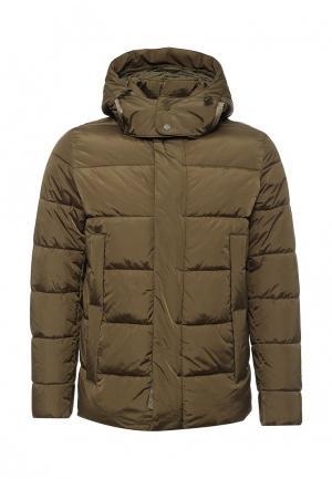 Куртка утепленная Geox. Цвет: зеленый