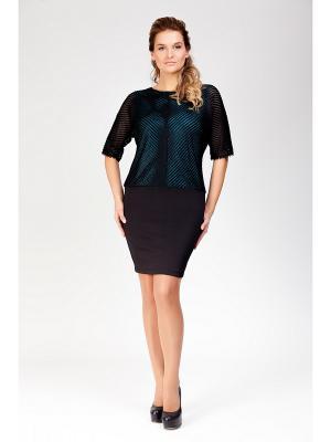 Платье Amelia Lux. Цвет: черный, зеленый