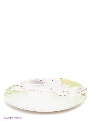 Блюдо Слоны Pavone. Цвет: светло-зеленый, белый