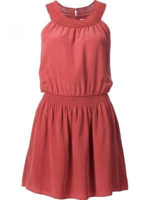 Платье с вышивкой Joie. Цвет: красный