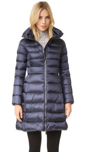 Пуховое пальто Add Down. Цвет: темно-синий