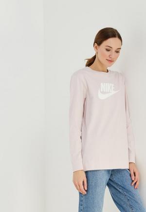 Лонгслив Nike. Цвет: розовый